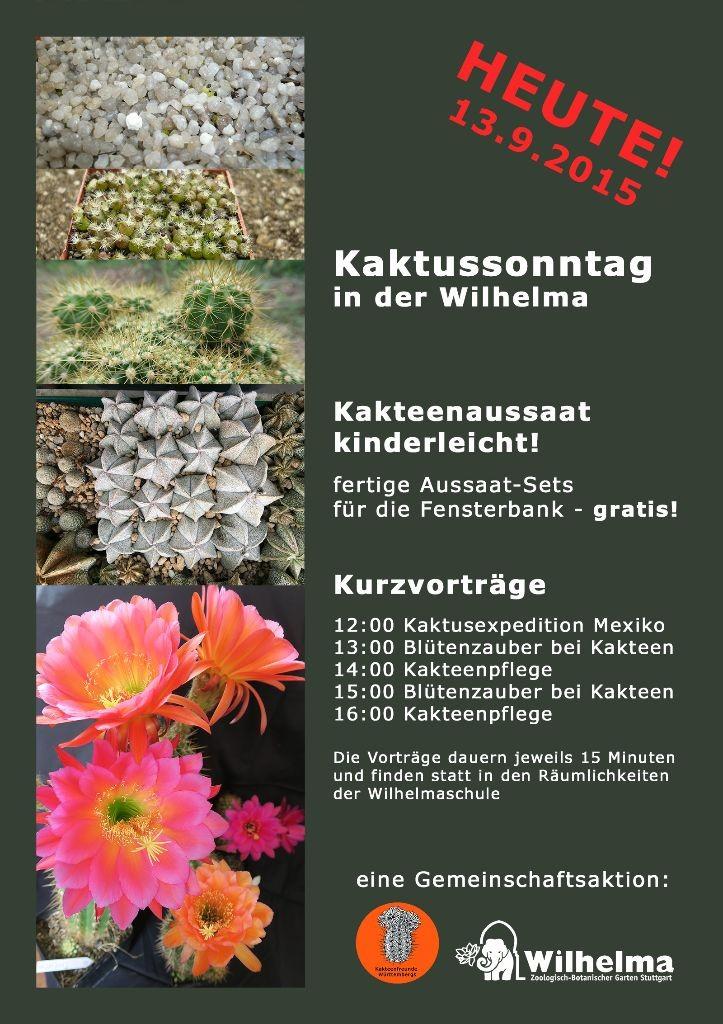 Plakat für unseren Auftritt in der Wilhelma